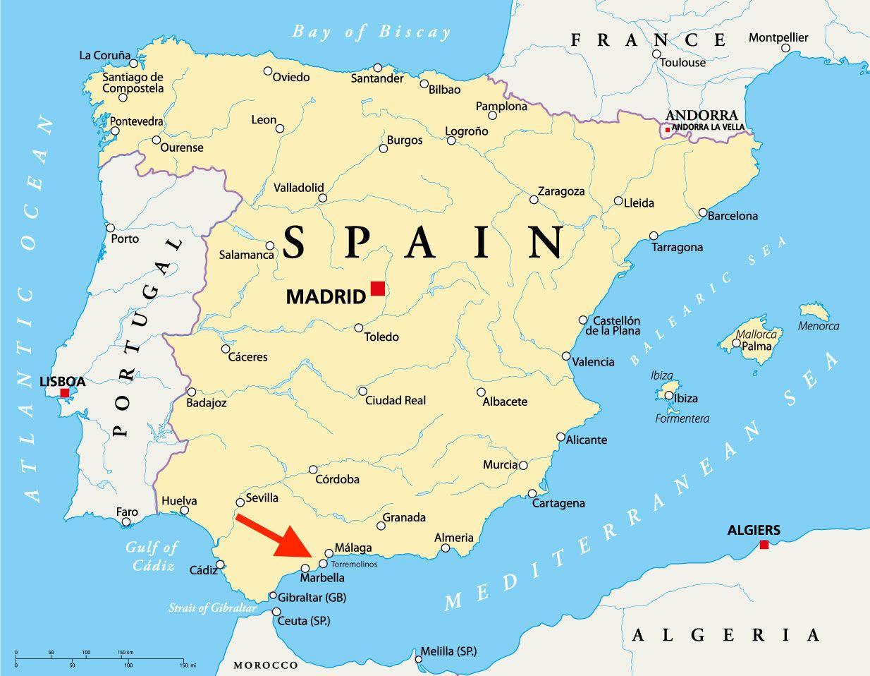 Kaart Torremolinos Compressor Last Minutes Spanje